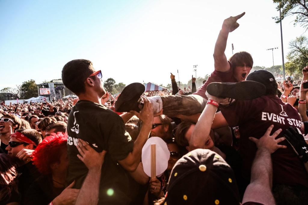 Dropkick Murphys Mosh Pit at Riot Fest Chicago 2014