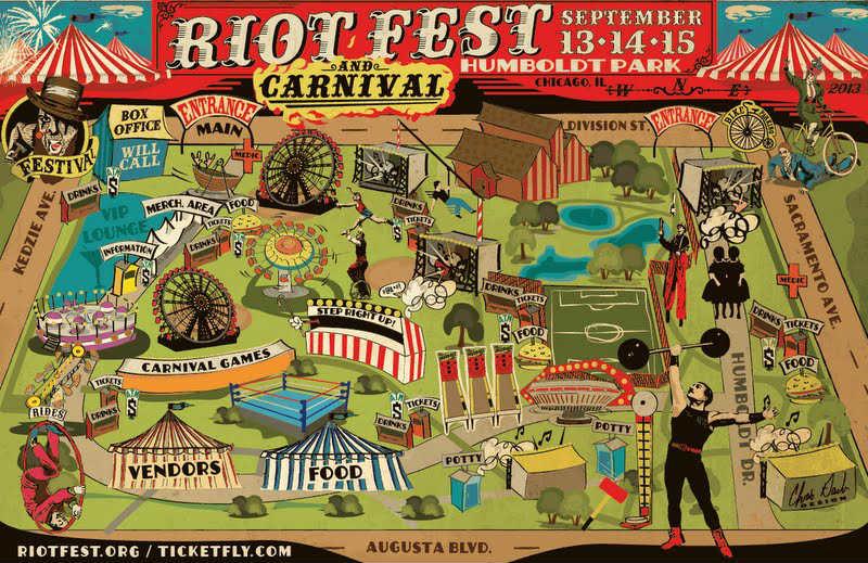 Riot Fest Map 2013