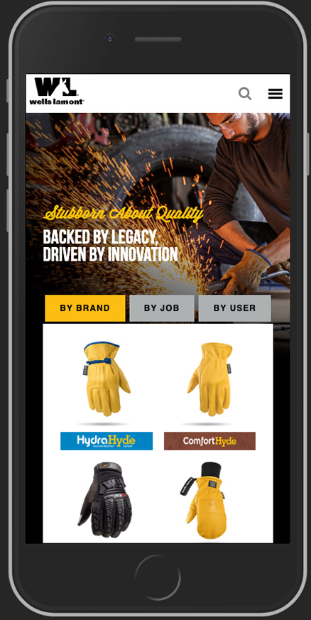 Wells Lamont Mobile Homepage